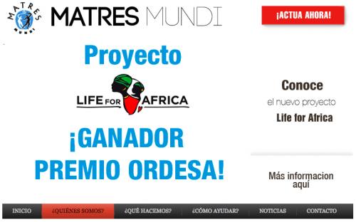 Página web de Matres Mundi