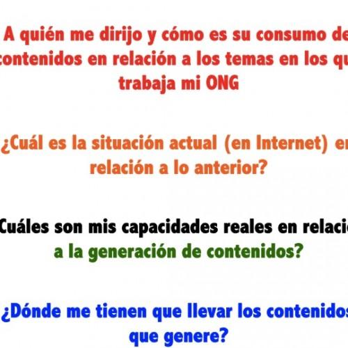 Preguntas para una ONG comunicación digital