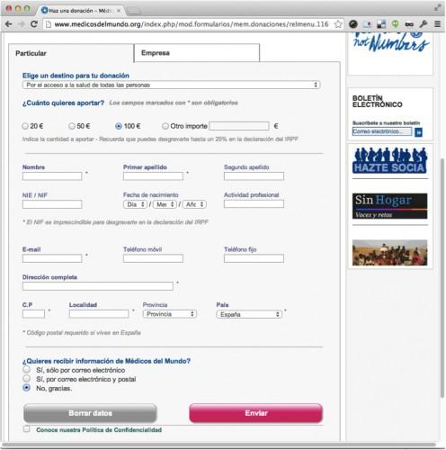 Ejemplo de formulario con un campo después del botón de enviar que obliga al usuario a hacer un recorrido de ida y vuelta.