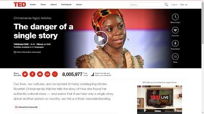 Detalle de vídeo web charlas Ted