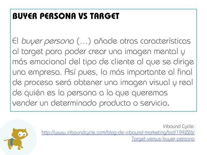 """Diferencia entre """"target"""" y """"persona"""""""