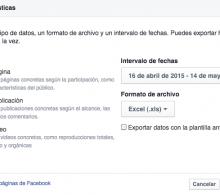 Cómo exportar estadísticas en Facebook