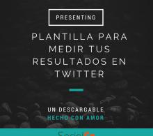 Plantilla para medir tus resultados en Twitter