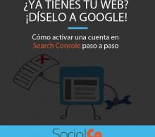 Search Console activar una cuenta