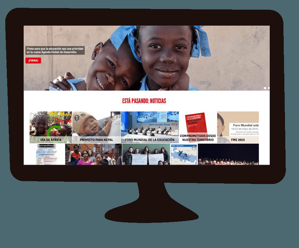 Imagen del trabajo Nueva web corporativa de Fundación Entreculturas