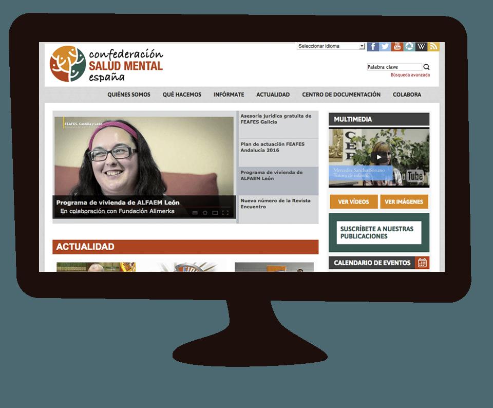 Imagen del trabajo Reestructuración de la web de la Confederación Salud Mental España