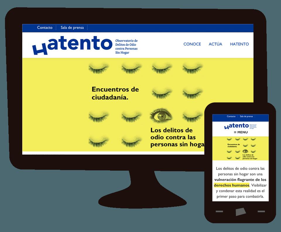 Imagen del trabajo Web del Observatorio Hatento