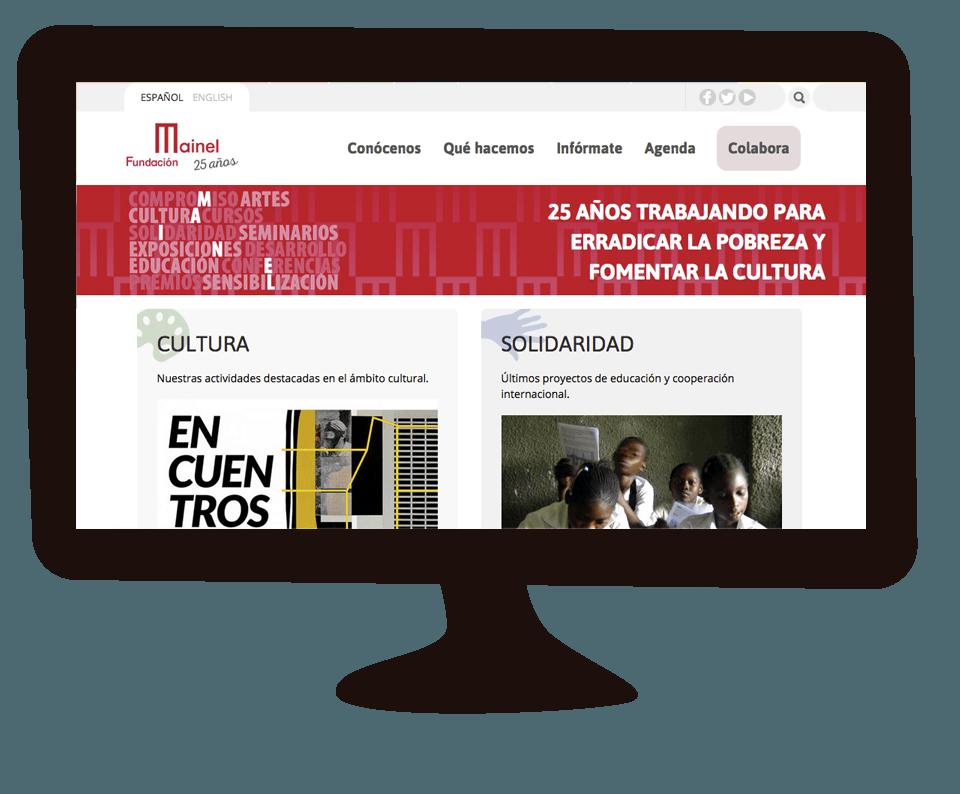 Imagen del trabajo Nueva web de la Fundación Mainel