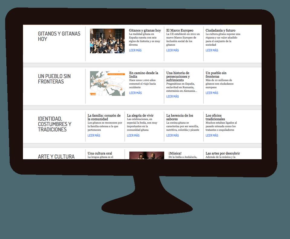 Imagen del trabajo Página web de la Fundación Secretariado Gitano