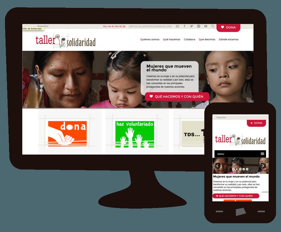 Imagen del trabajo Nueva web de la ONG Taller de Solidaridad
