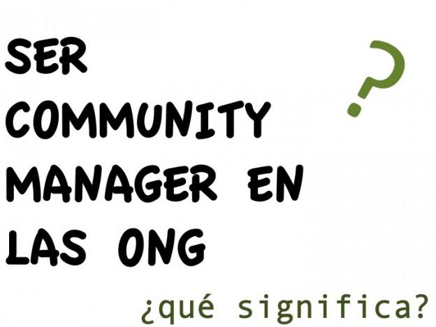 ser community manager en las ONG