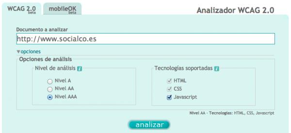 Test de accesibilidad web
