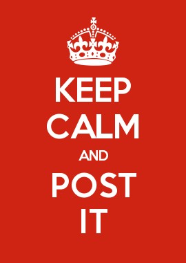 keep calm and post it