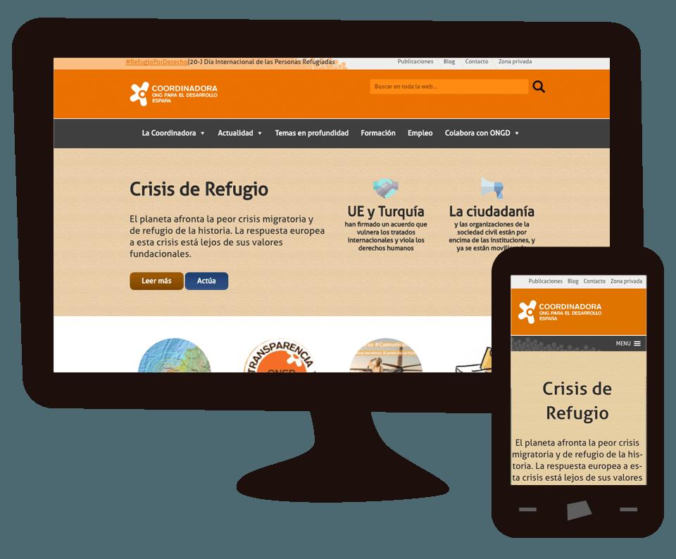 Imagen del trabajo Nueva web de la Coordinadora ONGD