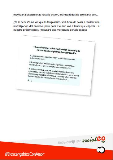 Detalle de la Guía Plan de Comunicación Digital para ONG