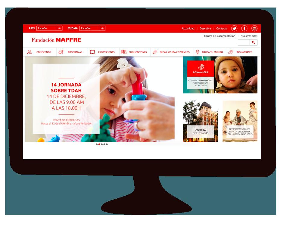 Imagen del trabajo Gestión y creación de contenidos online para la Fundación MAPFRE