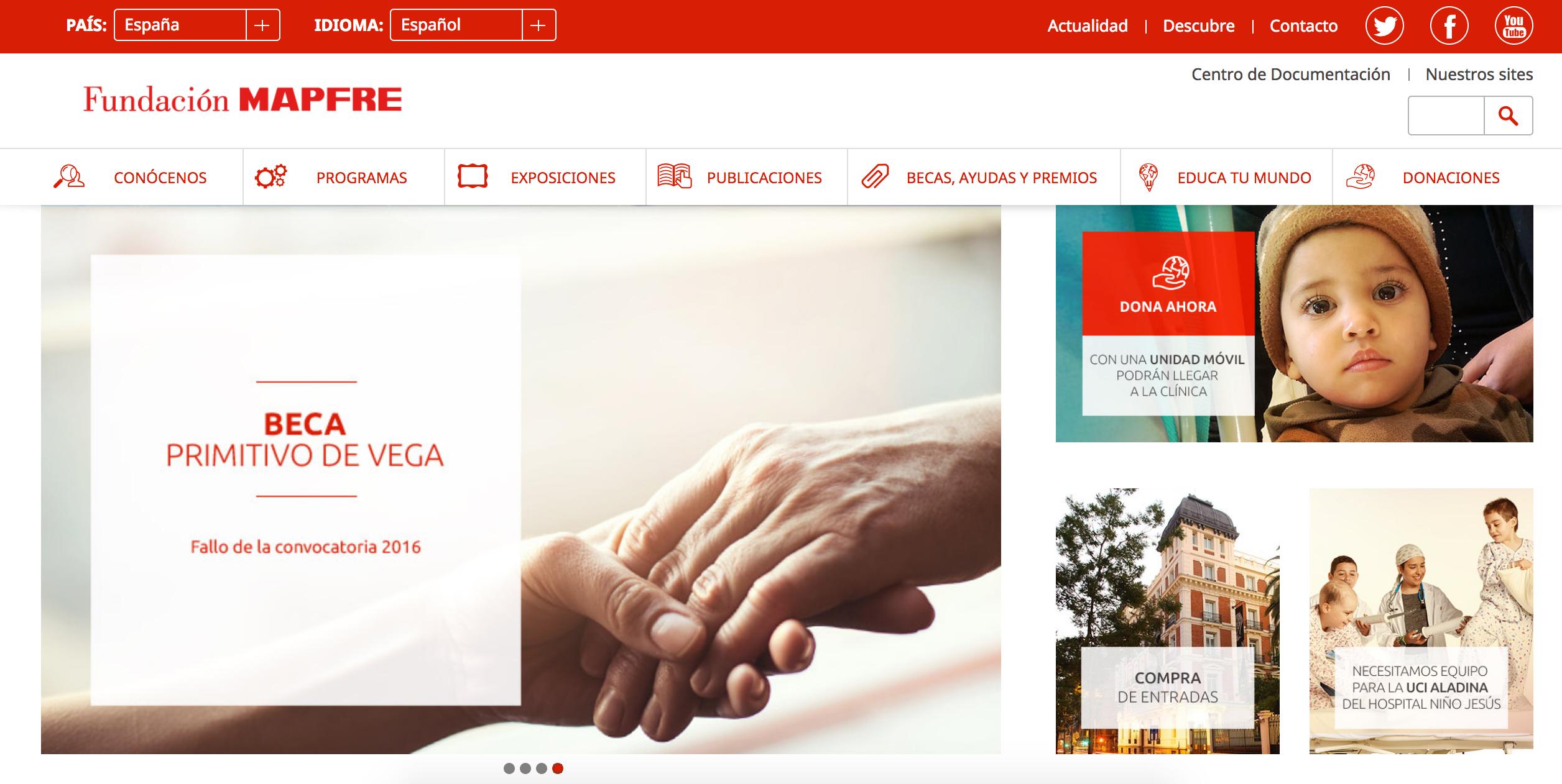 Web de la Fundación Mapfre