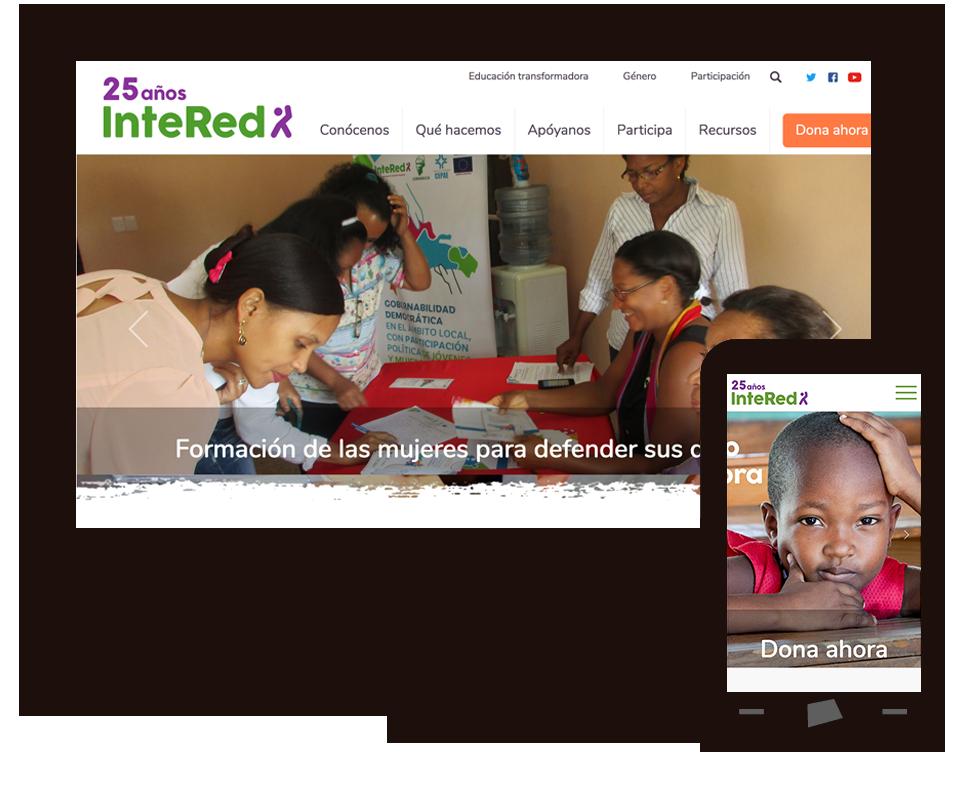 Imagen del trabajo Página web de la Fundación InteRed