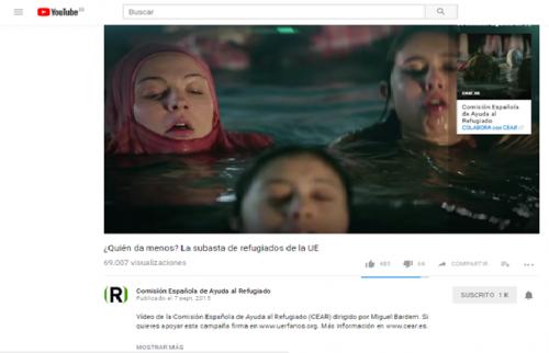 Canal de Youtube de CEAR_Campaña ayuda a los refugiados