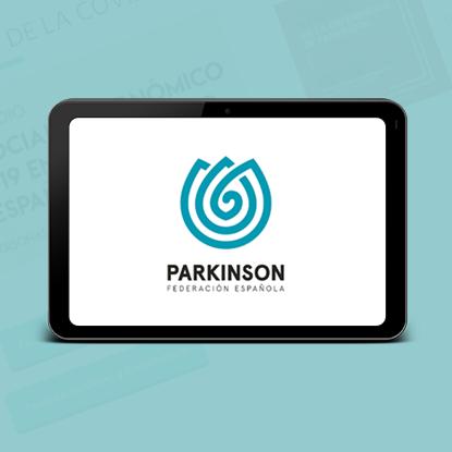 imagen corporativa de la Federación Española de Párkinson