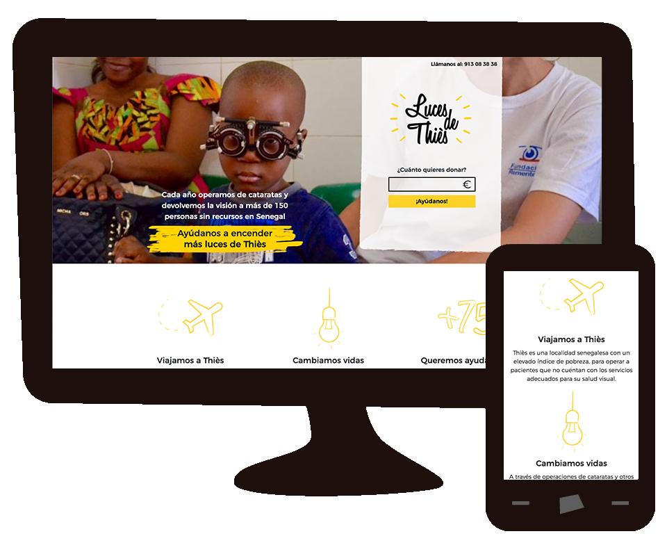 Imagen del trabajo Campaña #LucesdeThiès para Fundación Rementería