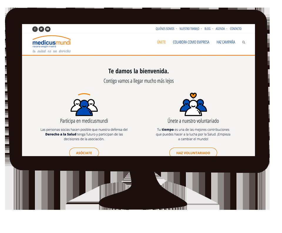 Imagen del trabajo Web corporativa para medicusmundi NAM: La salud es un derecho