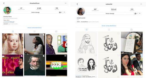 Instagram es de catanael y chraetitian