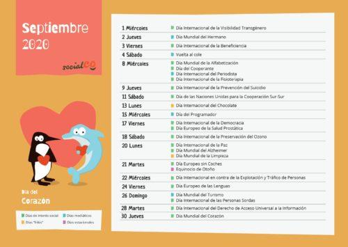 días mundiales septiembre