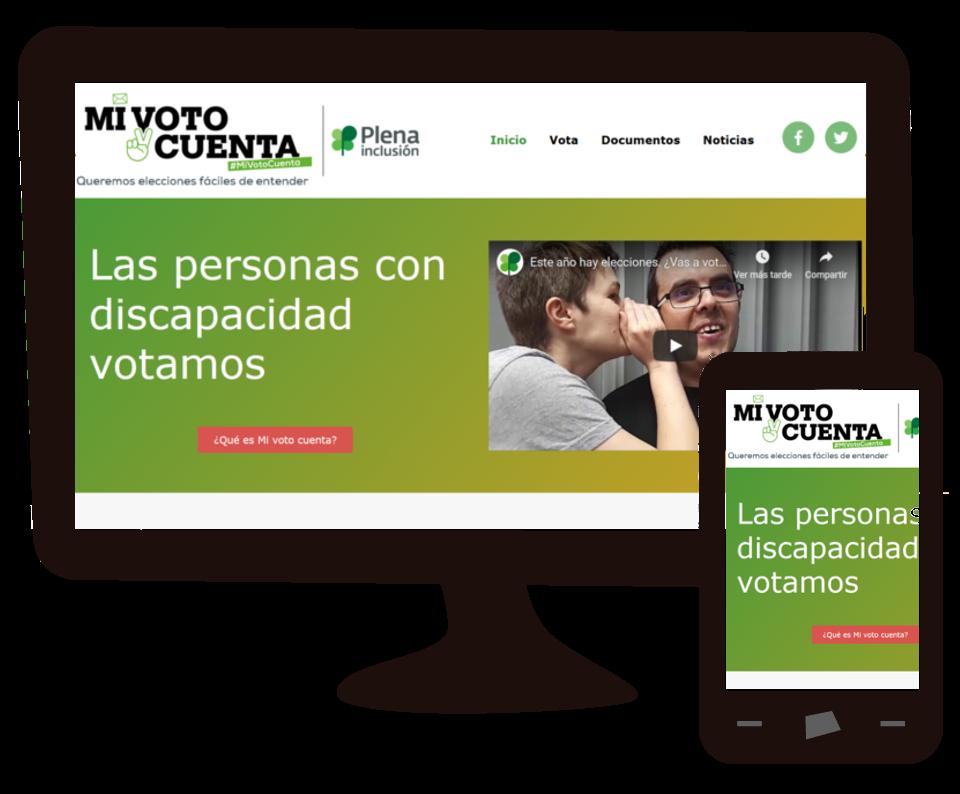 Imagen del trabajo Mi voto Cuenta: web para Plena Inclusión