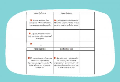 Analiza el mapa de tu comunicación y las necesidades comunicacion interna ONG