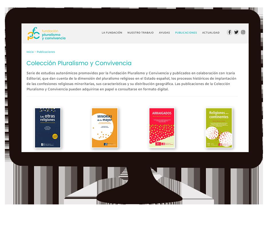 Imagen del trabajo Web corporativa Fundación Pluralismo y Convivencia