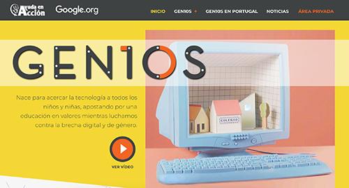 Web GEN10S Ayuda en Acción ONG