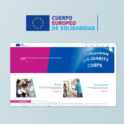 Desarrollo Web del Cuerpo Europeo de Solidaridad. Página web multi-idioma construida en Drupal