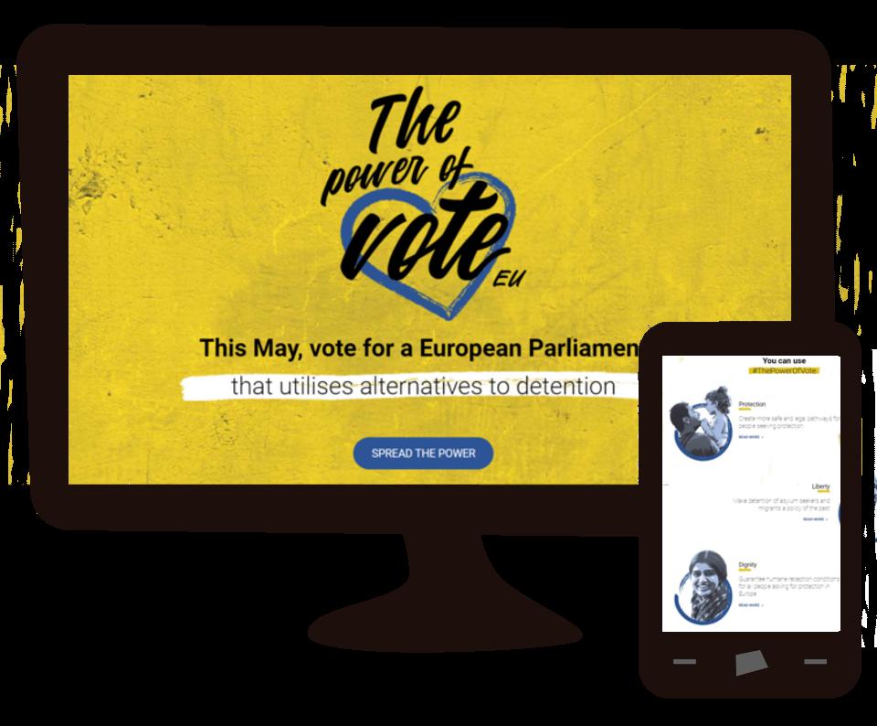 """Imagen del trabajo Campaña """"The Power of Vote"""""""