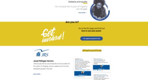 campaña para animar al voto de cara a Elecciones Europeas para el Servicio Jesuita de Apoyo al Refugiado