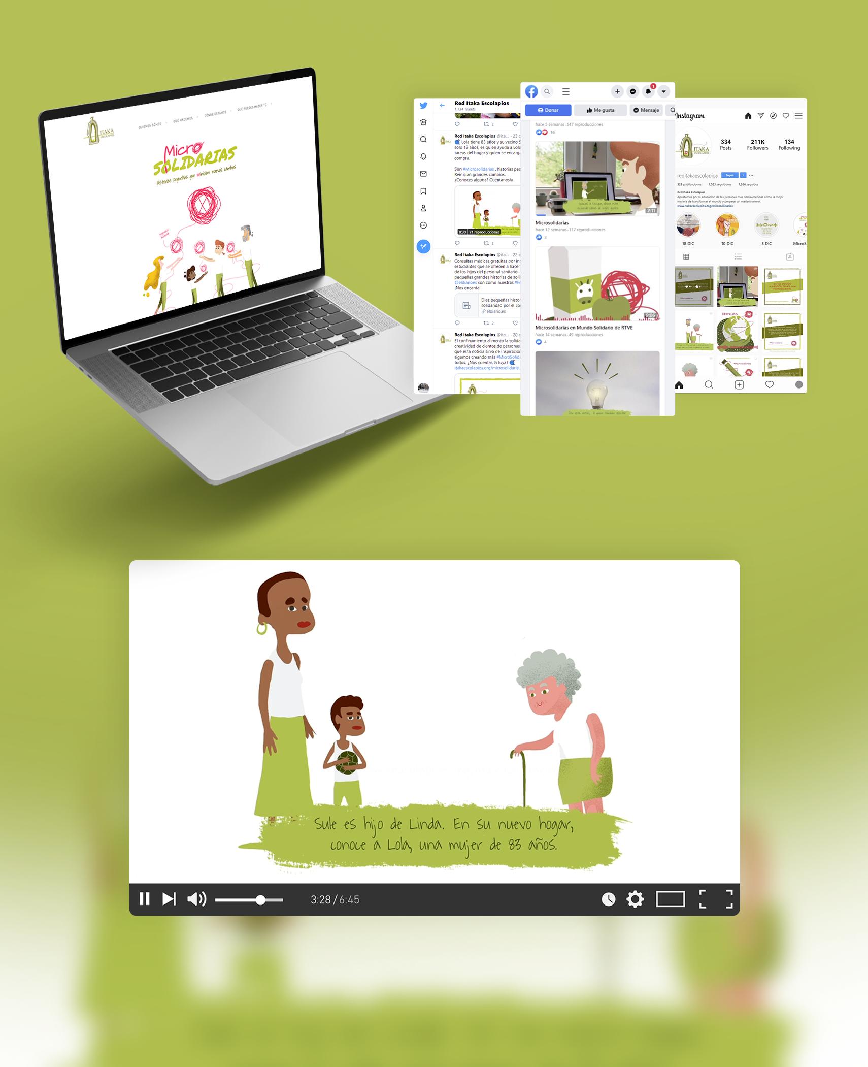 campaña redes sociales itaka escolapios Microsolidarias
